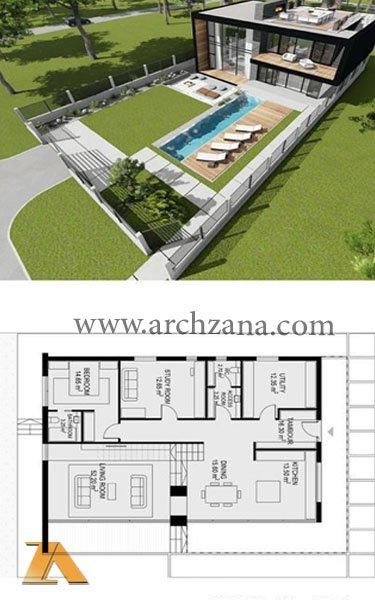 طراحی ویلا و باغ