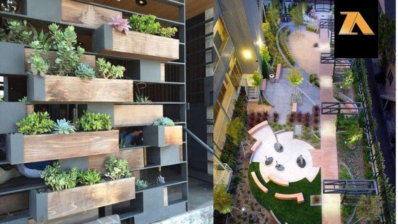 طراحی حیاط ویلا و باغ و.یلا