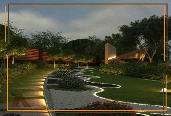 طراحی حیاط ویلا در شمال